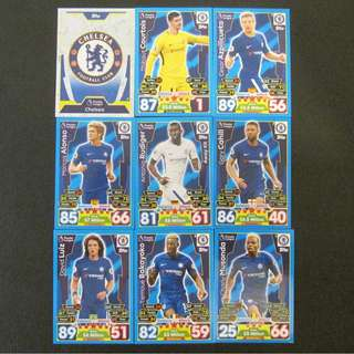 最新 17/18 Match Attax 18 cards TEAM set #CHELSEA 車路士