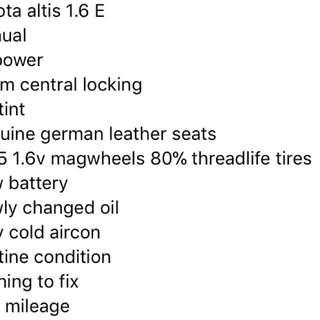 Toyota altis 2010 1.6 E