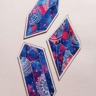 Gem illustration magnets