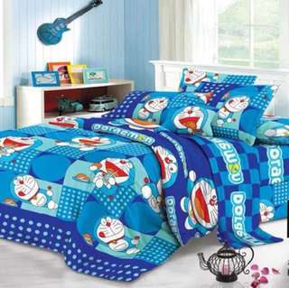 Doraemon 4in1 Poly-Cotton Bedsheet Set