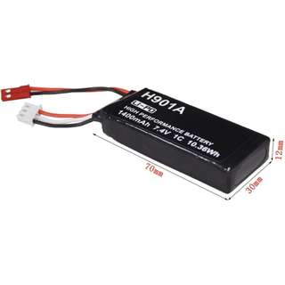 HUBSAN 7.4V 1400mAh LiPo Battery, 15C, 4.5Wh, with JST connector for H501S/H502S drone