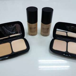 Aqua Foundation & Velvet Compact Powder