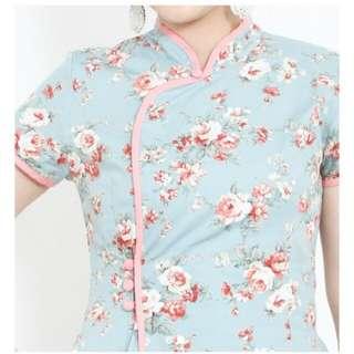 Nursing Friendly Floral Cheongsam