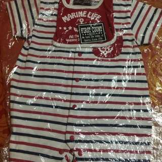 Marine jumpsuit for baby boy