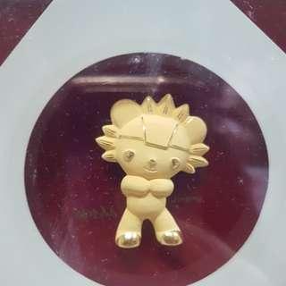 2008年北京奧運 福娃千足金