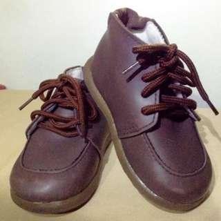 Children Blucher Shoes for Boys Brown formal wear