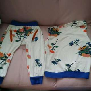 BABY CLOTHES {1 SET-$5} XPL COOLING SLEEVLESS TOP & LONG FLOWER PANT FOR 7-9YEARS.