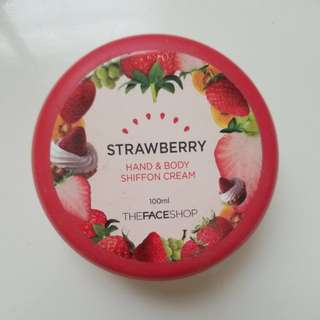 The Face Shop Strawberry Hand & Body Shiffon Cream
