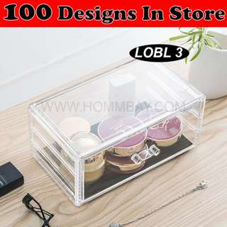 Clear Acrylic Transparent Make Up Makeup Cosmetic Jewellery Jewelry Organiser Organizer Drawer Storage Box Holder (LOBL 3)