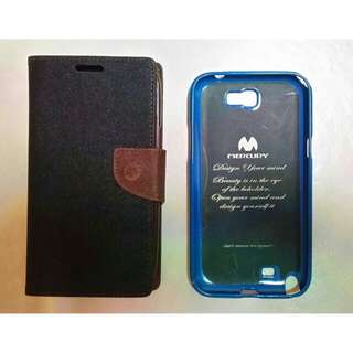 Used Samsung Note 2 Flip Case and Jelly Case (Both at $7)