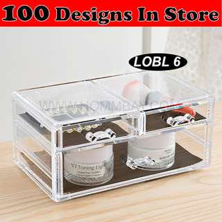 Clear Acrylic Transparent Make Up Makeup Cosmetic Jewellery Jewelry Organiser Organizer Drawer Storage Box Holder (LOBL 6)