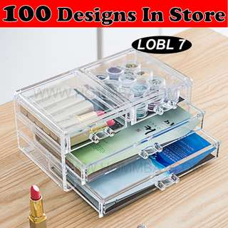 Clear Acrylic Transparent Make Up Makeup Cosmetic Jewellery Jewelry Organiser Organizer Drawer Storage Box Holder (LOBL 7)