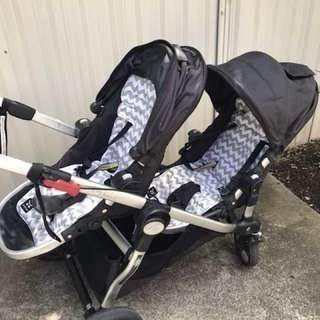 Baby jogger city select onyx 2 seats + bassinet