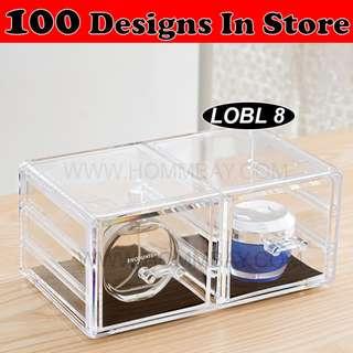 Clear Acrylic Transparent Make Up Makeup Cosmetic Jewellery Jewelry Organiser Organizer Drawer Storage Box Holder (LOBL 8)