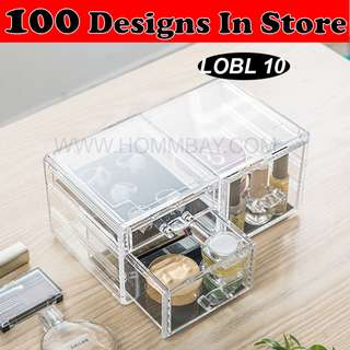 Clear Acrylic Transparent Make Up Makeup Cosmetic Jewellery Jewelry Organiser Organizer Drawer Storage Box Holder (LOBL 10)