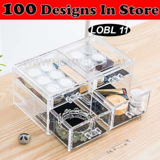 Clear Acrylic Transparent Make Up Makeup Cosmetic Jewellery Jewelry Organiser Organizer Drawer Storage Box Holder (LOBL 11)