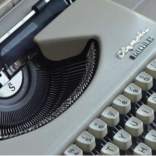 Olympia Splendid 66 Typewriter. No longer manufactured. Includes original cover/carrying case.