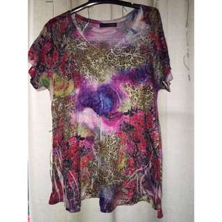 Colourful Floral Shirt Size 12 / 14 / Large