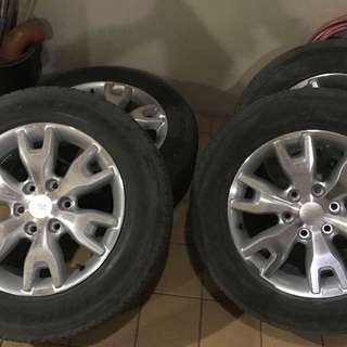 Ford Ranger Wildtrak Mags and Tires