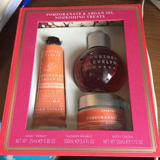 Crabtree evelyn hand cream gift box沖涼潤手霜身體禮盒裝