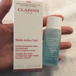 Clarins cosmetics travel/sample size for sale