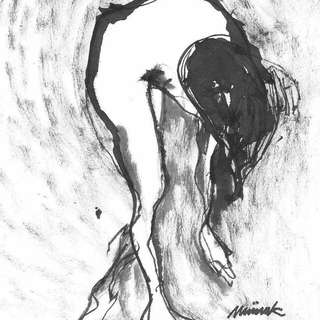 TAKE A BOW #meiinkart ink painting