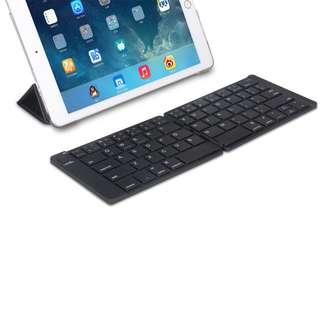 Foldable Bluetooth Leather Keyboard