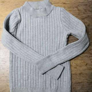 Kid's Grey Knit Top