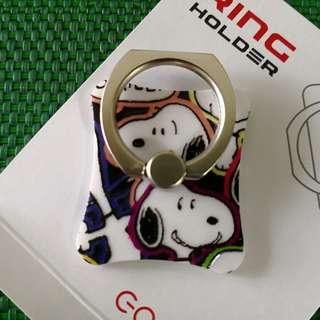 Peanuts Snoopy 史努比 凹凸感 Ring Holder 支架 介子手機座 可遁還再用 包平郵