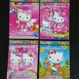 Hello kitty sticker book with artwork colouring