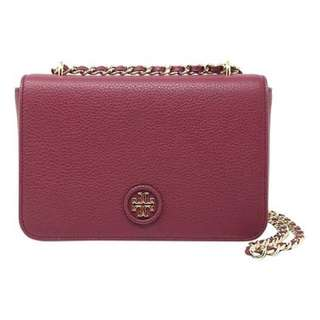 Tory Burch Whipstitch Logo Adjustable Crossbody Bag / sling bag