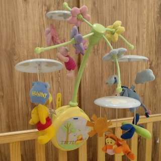 TOMY Winnie the Pooh Musical Baby Cot Mobile