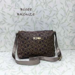 Bonia Sling Bag Bronze Color
