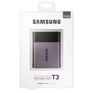 Brand New Samsung T3 Portable SSD 250GB(sealed)