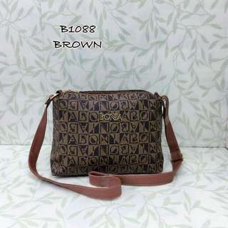 Bonia Sling Bag Brown Color