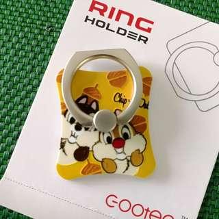 迪士尼 Disney Chip n Dale 凹凸感 Ring Holder 支架 介子手機座 可遁還再用 包平郵