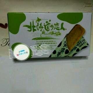 (免運)北海道戀人--抹茶牛奶酥餅條