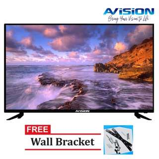 "Avision 40"" Full HD LED TV (Black) 40K786 with Free Wall Bracket"