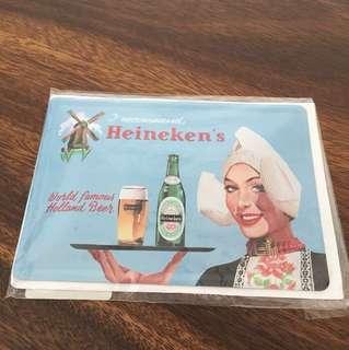 Heineken Metal Postcard