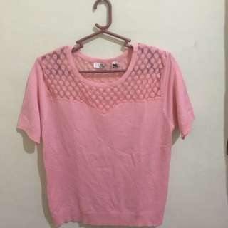 Knitted Blouse (Pink)