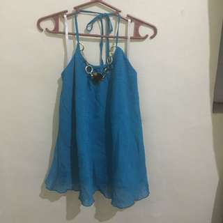 Sleeveless Blouse ( Blue)