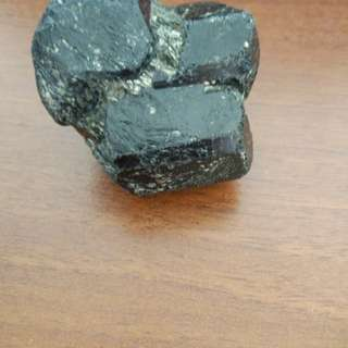 (Rare Specimen) Black Tourmaline with Pyrite Crystal Comes with Stand