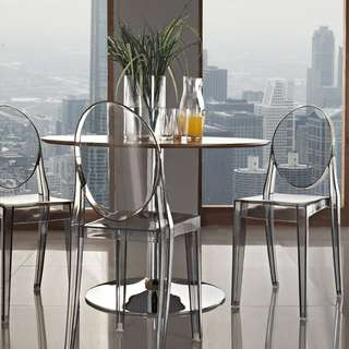 Transparent Styled Chairs - NO ARMS Furniture