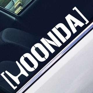 HOONDA Car Decal