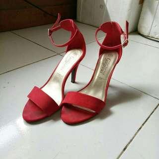 [FREE ONGKIR] New Look red heels