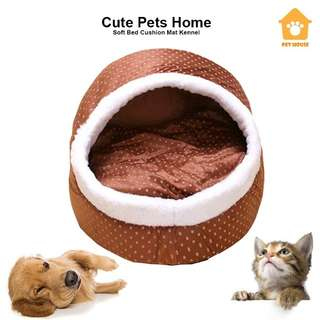 Soft pets cave nest bed cushion