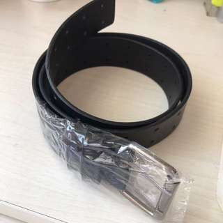 black color genuine leather belt ( free HK local mail )