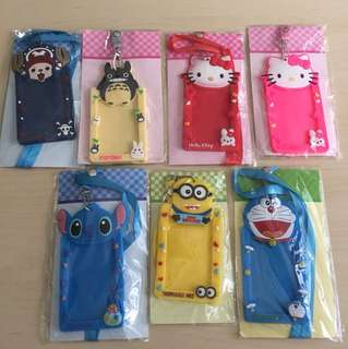 Lanyard Card Holder for kids (Doraemon,hello kitty,to toro,stitch,chopper,minions)