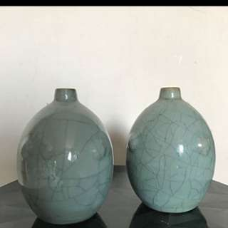 Rare Celadon Vases