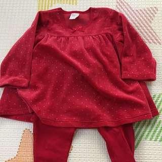 H&M red set